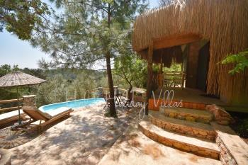 Secluded Honeymoon Villa with Minipool in Forest